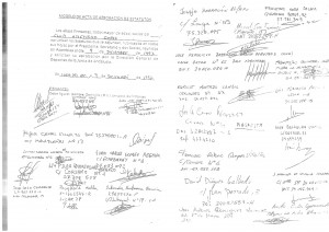 Acta fundacional del Club Atletismo Coria